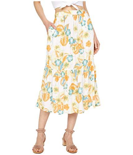 Roxy Easy Take Skirt Snow White Reef Flower XL (US 13)