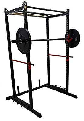 "TDS Power Rack PKG-1000 lb Rated Black Power Rack, 1.25"" Dia Professionally knurled (2) Chinning Bars & Band Holder Attachment. Provision to add LAT Attachment, Pull up/Chip up bar and More!"