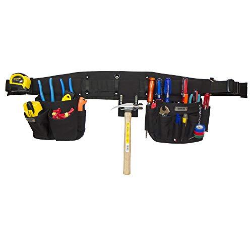 BOULDER BAG Electrician Tool Belt, Comfort Combo 100, Quick Release Buckle, 25 Pockets/Slots, Black, (Large 36-40 Inch Waist), Made in USA