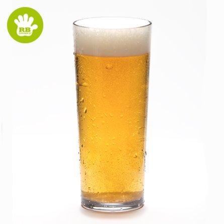 Verres à bière incassables en polycarbonate, 12 pièces 56 cl (a new technology dans le bocal de la glace, ce qui permet de garder la head of your beer for longer).