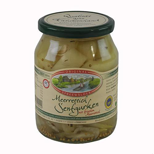 Krügermanns Original Spreewälder Meerrettich Senfgurken (720 ml Glas)