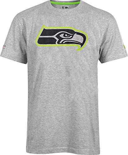 New Era Seattle Seahawks New Era Tee T Shirt Fan NFL Grau - L