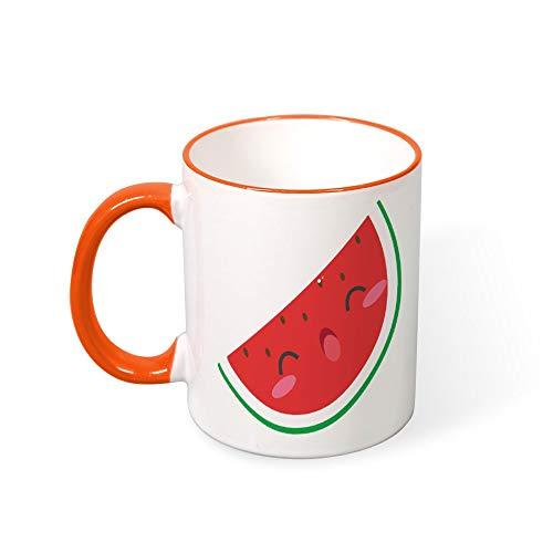 DKISEE Koffie Mok Tee Cup Vrolijke Watermeloen Koffie Mokken Restaurant Koffie Mokken Kleur Mok Mond en Handvat 11oz 11oz ORANJE