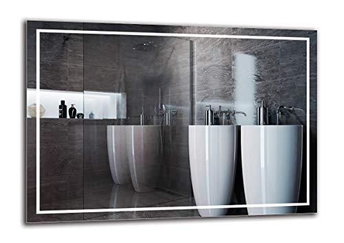 Espejo LED Premium - Dimensiones del Espejo 100x70 cm - Espejo de baño con iluminación LED - Espejo de Pared - Espejo de luz - Espejo con iluminación - ARTTOR M1ZP-48-100x70 - Blanco frío 6500K