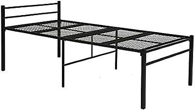 萩原 ベッド シングル ベッド下 ミドルベッド 収納【床下ひろびろ51cm】大容量 パイプベッド ブラック KH-3095BK