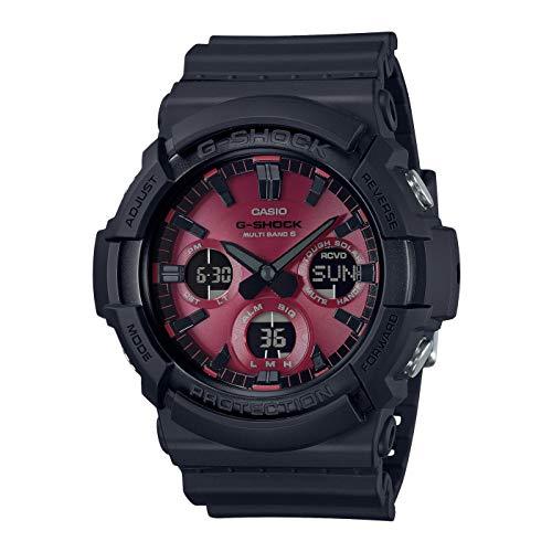 Casio Herren Analog – Digital Japanischer Quarz Uhr mit Resin Armband GAW-100AR-1AER