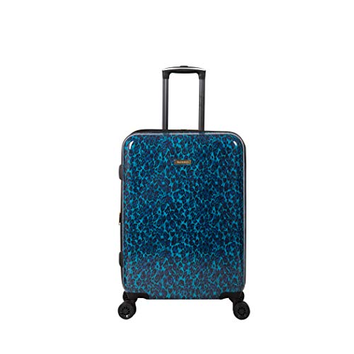 Isaac Mizrahi Unisex-Adult (Luggage Gabby, Blue Leopard, 26' 8-Wheel Hardside Spinner
