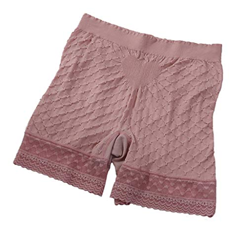 FRAUIT Pantaloncini Donna Culotte Shorts Intimo Fitness Sport Hot Pant Basic Long Lungo Pantaloni di Sicurezza Ragazza Pantaloncini Intimi Morbidi Elastici 2 Slip Gamba Lunga