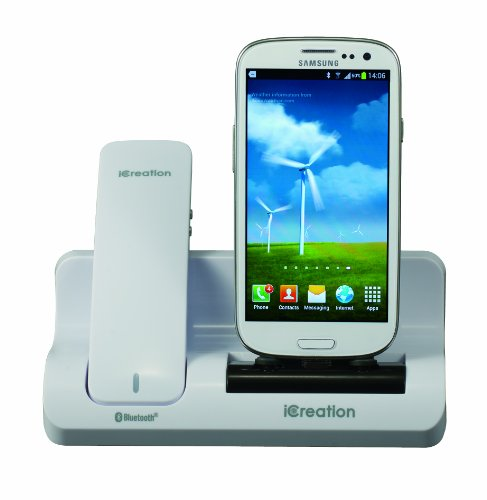 iCreation g-500 - Docking Station con Ricevitore Bluetooth per Samsung Galaxy, Colore: Bianco