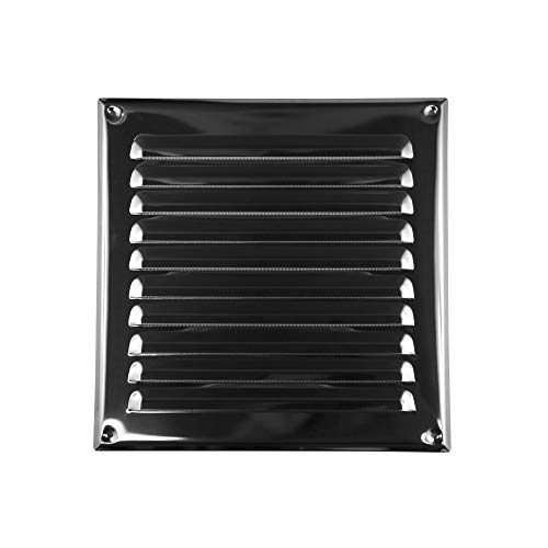 AWENTA Lüftungsgitter Edelstahl, eckig, 195 x 195/250 x 250 mm, silber