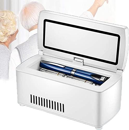 XnalLKJ Pequeño Refrigerador Refrigerador, Campamento Nevera, USB Carga, con Adaptador De Encendedor De Cigarrillos De Coche Y Batería De Litio De 10200 MAh, Adecuada para Viajes/Insulina/Interfer