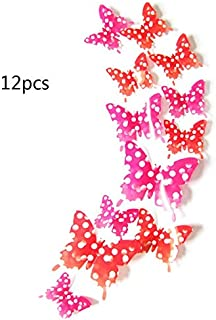 12pcs Creative Butterflies with 3D Stereo Wall Sticker Removable H-015 Butterflies with 3D Stereo Wall Sticker