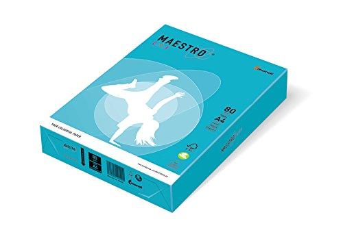 Maestro Papier Farbe a4, 210 x 297 mm, 80 g, 500 fg, hellblau