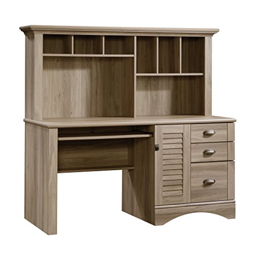 Sauder Harbor View Computer Desk with Hutch,...