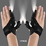 Flashlight Gloves, Light Gloves, LED Flashlights Gloves Perfect for Camping, Night Running, Fishing, Cycling, Cool Gift for Men and Woman, Birthday Gifts for Man and Woman, 1 Pair