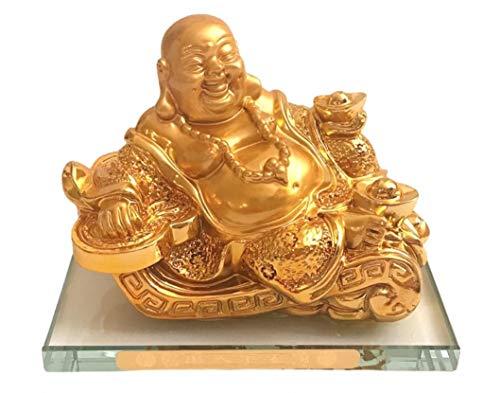 Golden J Feng Shui Golden Resin Statue Laughing Buddha