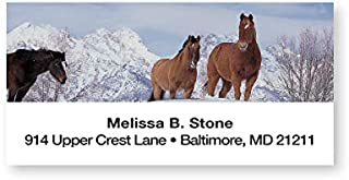 Horses in Snowy Winter Sheeted Return Address Labels