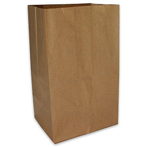 500 Premium Kraftpapier-Tüten Bodenbeutel Lunchtüten Blockbodenbeutel BIO Fastfood Tüten Doggybag Snackverpackung braun