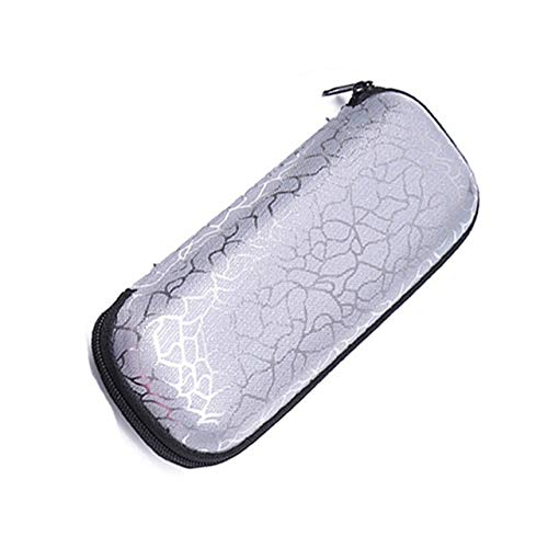 1PC Unisex Zipper Irregular Pattern Sunglasses Eye Glasses Case Eyeglass Box Eyewear Protection Containers Accessories for Women - Silver