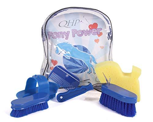 ARBO-INOX Pony Power Putzrucksack Putzset für Kinder QHP Farbe blau