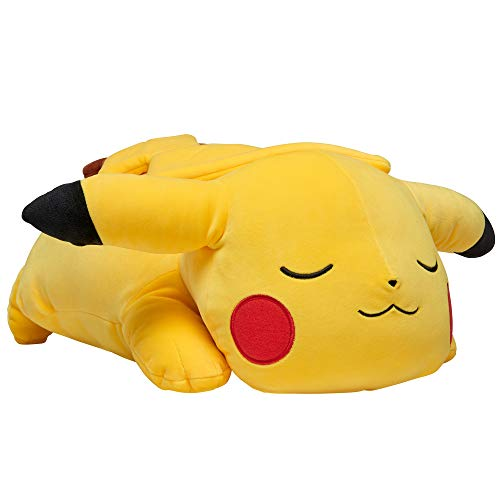 Pokemon Pikachu Plush, 18' Plush Toy - Adorable Sleeping Pikachu - Ultra-Soft Plush Material, Perfect for Playing, Cuddling & Sleeping - Gotta Catch 'Em All