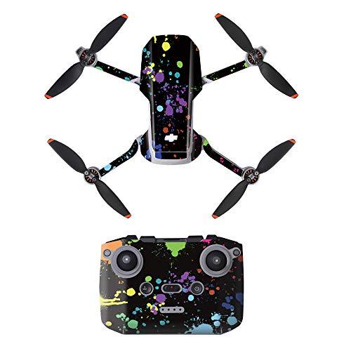 LHY Linghuang PVC Adesivo Decorativo Telecomando Decals Set per DJI Mavic Mini 2 Drone Impermeabile DIY Accessori Protezione AntiGraffio (Tipo 3)