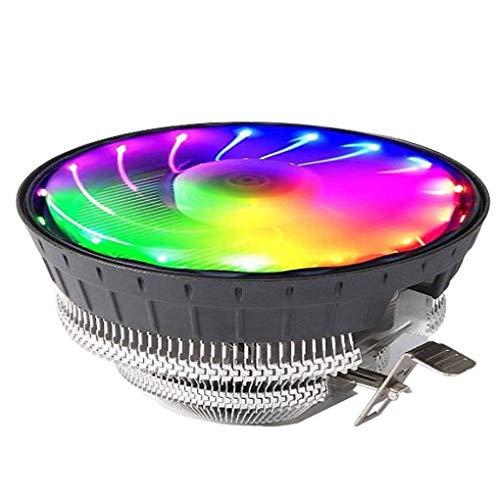 Yihaifu 2000rpm silencioso Ordenador CPU Cooler RGB de refrigeración de Alta Flujo de Aire del procesador de PC RGB LED del Ventilador de refrigeración del Aire del disipador de Calor