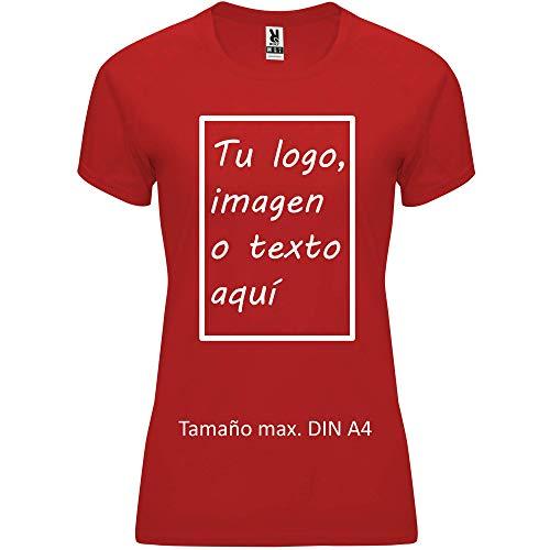 rainUP – Camiseta Técnica Personalizable – Camiseta Deportiva Running Mujer - Manga Corta – Impresión Directa (DTG) – Puedes añadir tu Frase, Logo o Imagen Personalizada