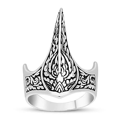 Handmade 925 Sterling Silver Men Rings Ertugrul Archer Ottoman zihgir Thumb...