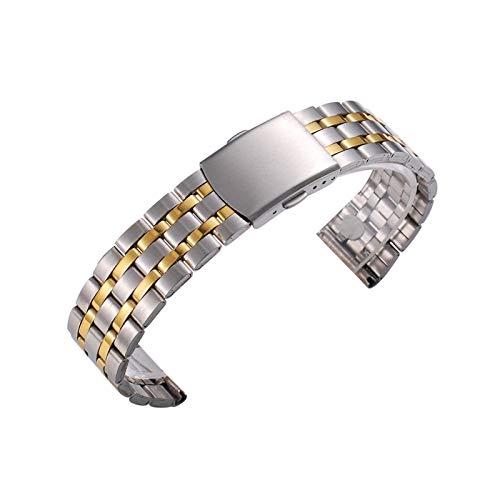 WNFYES 18 mm 20 mm 22 mm de Oro Rosa de Plata del Oro del Reloj de Acero Band Pulseras de Metal Inoxidable Correa for los Hombres de Las Mujeres de los Relojes Correa Relojes Correas