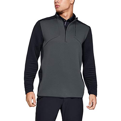 Under Armour Men's Storm Daytona Golf 1/2 Zip Pullover, Pitch Gray//Black, X-Large