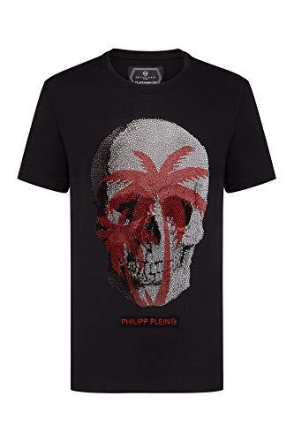 Philipp Plein Herren T-Shirt - Platinum Cut - Skull - Schwarz (XL)