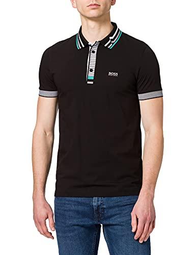 BOSS Paule 5 Camisa de Polo, Negro1, S para Hombre