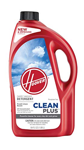 Hoover AH30330NF CleanPlus Concentrated Solution Formula Carpet Cleaner and Deodorizer, 64 Oz, Red