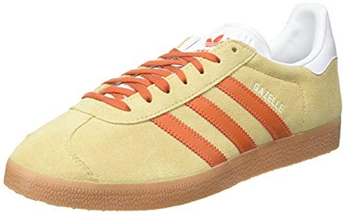 adidas Gazelle, Scarpe da Ginnastica Uomo, Hazy Beige/Fox Orange/Gum 2, 41 1/3 EU
