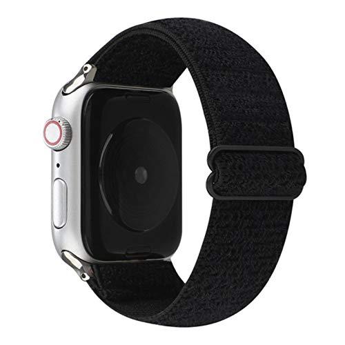 Nueva banda elástica ajustable Nylon Loop Band para Apple Watch Band 38mm 42mm Serie 6 SE 54321 para iWatch Correa Sport trenza 44mm