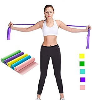ROMIRUS Exercise Band, Long Resistance Band Yoga Elastic Strap Latex Rope, Natural Latex Elastic Exercise Equipment for Physical Therapy, Pilates, Stretch, Yoga, Strength Training Workout