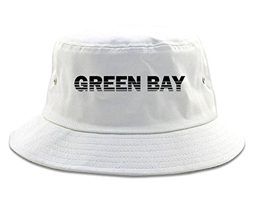 Green Bay Wisconsin State City Bucket Hat White