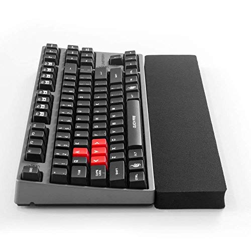 Grifiti Fat Wrist Pad 14 2.75 X 14 X 0.75 Inch Keyboard Wrist Rest for Tenkeyless Mechanical and Gaming Keyboards (2.75 x 14 inches, Black Nylon)