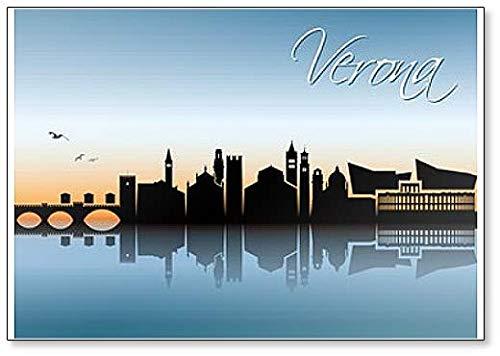 Verona Skyline - Imán para nevera