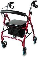 Mobiclinic, Modelo Sinagoga, Rollator con 4 ruedas, Andador para adultos, mayores, minusválidos o ancianos, andador...