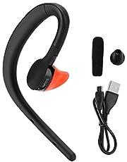 AMONIDA Cuffia Bluetooth, Auricolare Appeso per Guida Sportiva Nera, per Guida sicura in Palestra