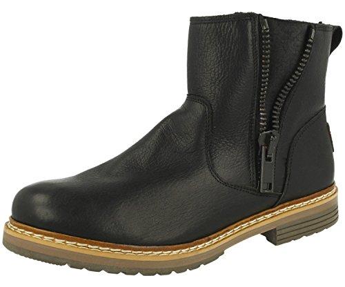 BULLBOXER Damen Ankle Boots 049M66532,Frauen Stiefel,Halbstiefel,Stiefelette,Bootie,knöchelhoch,Reißverschluss,Schwarz,EU 37