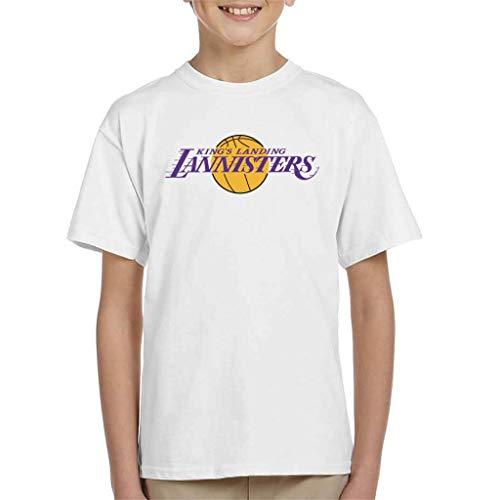 Kings Landing Lannisters Lakers Inspired Game of Thrones Kid's - Camiseta Blanco 3-4 Años