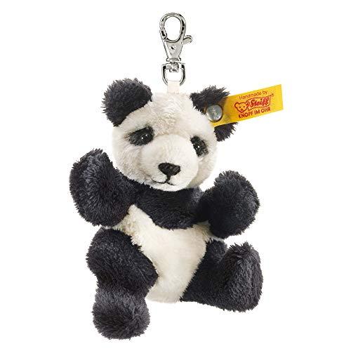 Steiff 112102 Panda 9 schw./WSS Schlüsselanhänger, SCHWARZ/WEIß