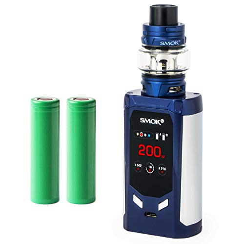 Smok R-Kiss Kit inkl. TFV8 Baby V2 (5 ml) 5000 mAh E-Zigarette E-Shisha Starterset (nikotinfrei) (blau)