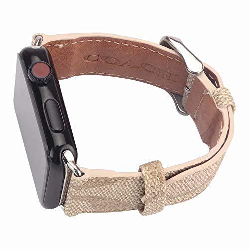 CO 42 - Correas para Apple Watch (42 mm, para 44 mm), Correa de Piel sintética Mujeres y Hombres, Repuesto para Apple Watch Series 5 4 3 2 1 de 42 mm
