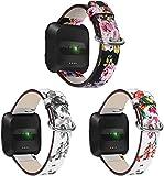 Reloj de Correa Cuero Compatible con Fitbit Versa 2 / Versa 2...