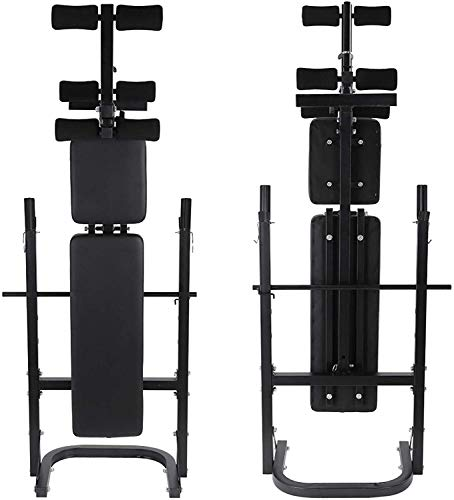 Olympic Weight Bench with Leg Extension Curl Lift Developer Attachment,Barbell Lifting Press Workout Fitness Combo Bench and Squat Rack Stand Adjustable Incline