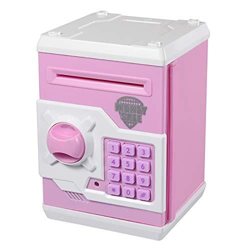 Qwifyu salvadanaio elettronico, con Password, per Monete e Banconote, Un Giocattolo per i Bambini, da Regalare per Il Compleanno (Rrose Blanc)